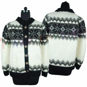 Wool Jacket Black White