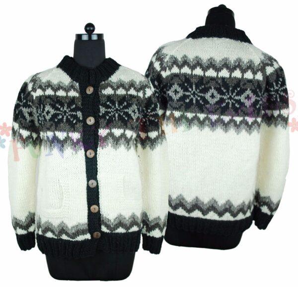 Wool Jacket Black White