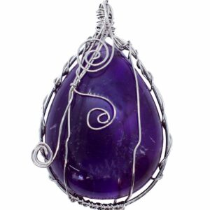 Drop Shape Pendant Amethyst