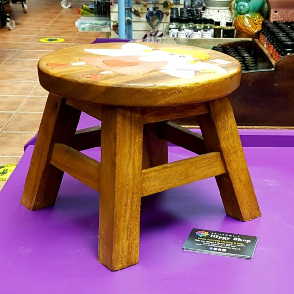 Children's Wooden Stool Fairy side view Fair Trade