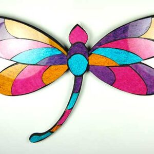 Dragonfly Wooden Mosaic