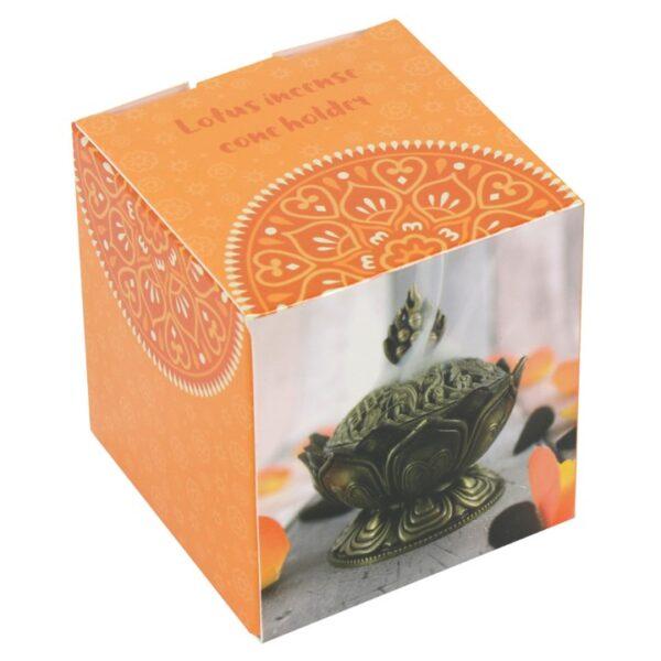 Lotus Incense Cone Holder Box