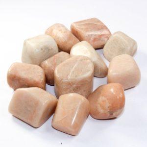 Crystal Tumblestone Pink Moonstone